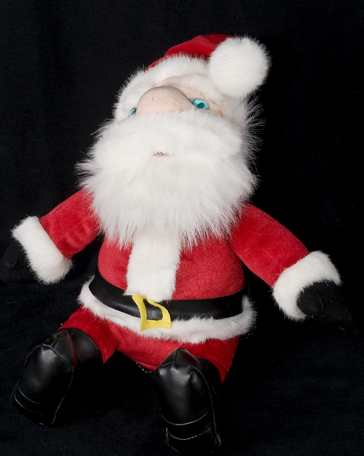 blue eyes santa claus animated musical light up plush - Stuffed Santa Claus