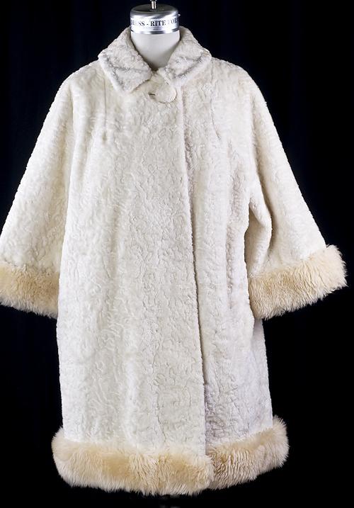 Vintage Mod Sheep Shearling White Persian Wool Coat Ebay
