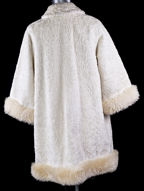 Vintage Mod Sheep Shearling White Persian Wool Coat Ebay