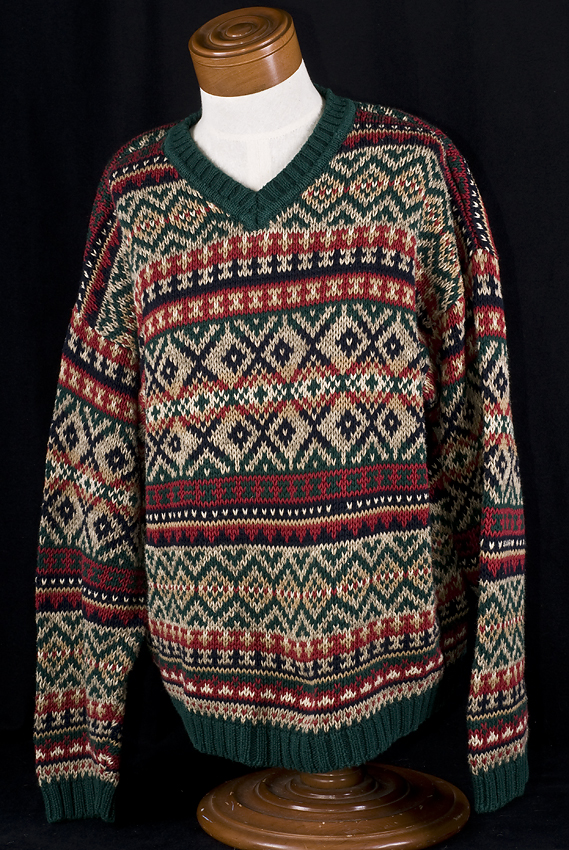 Abercrombie Fitch FAIR ISLE KNIT Sweater Adult Jumper Sz L | eBay